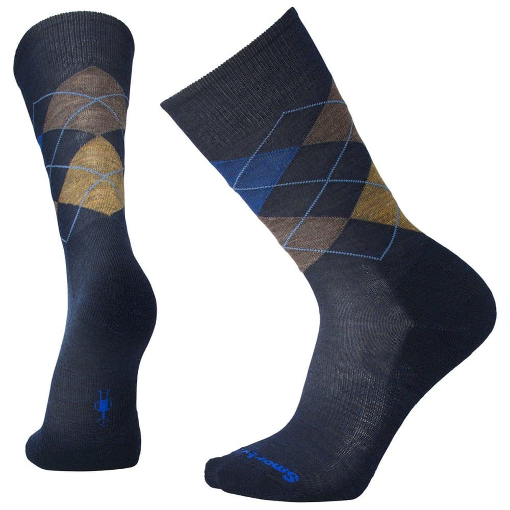 SMARTWOOL Men's Diamond Jim Socks - A47-DEEP NAVY/DES SA