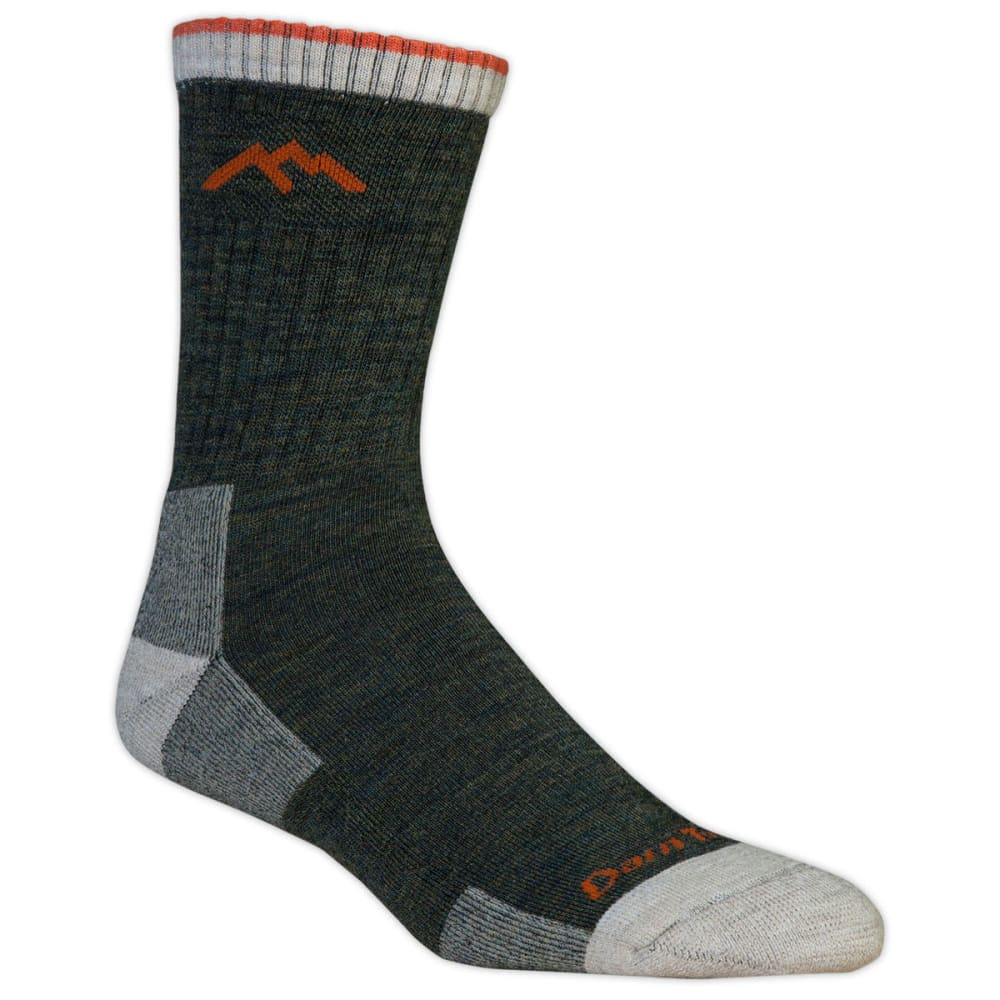 DARN TOUGH Men's Micro Crew 3/4 Hiking Socks - OLIVE