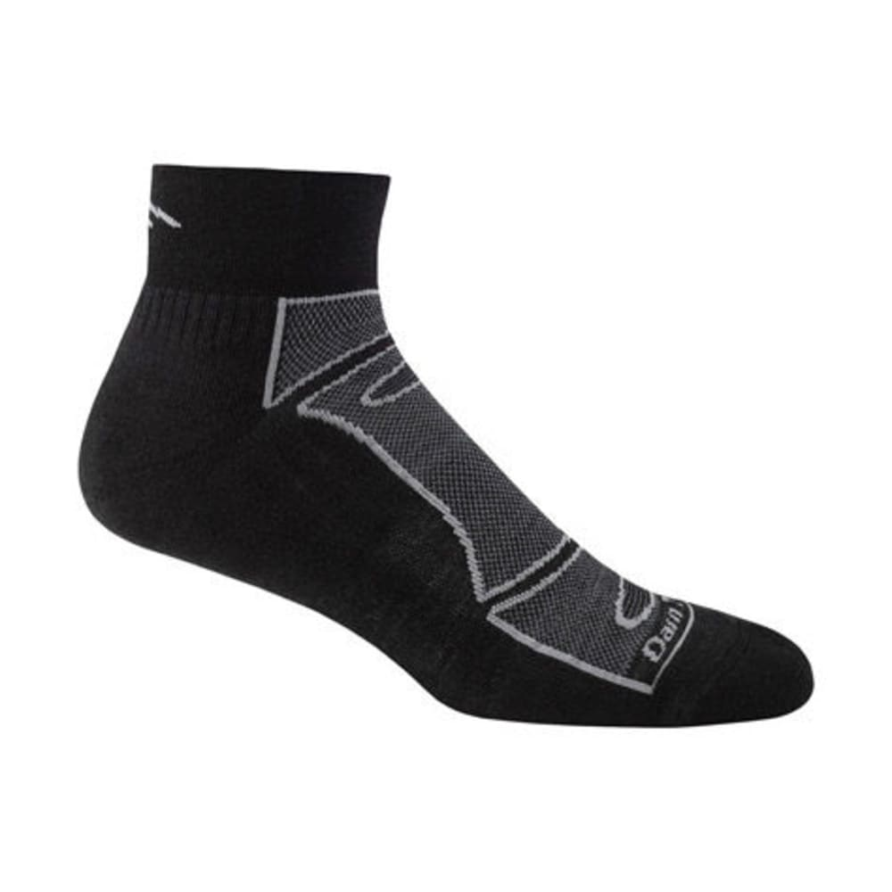DARN TOUGH Men's 1/4 Light Cushion Socks - BLACK/GREY