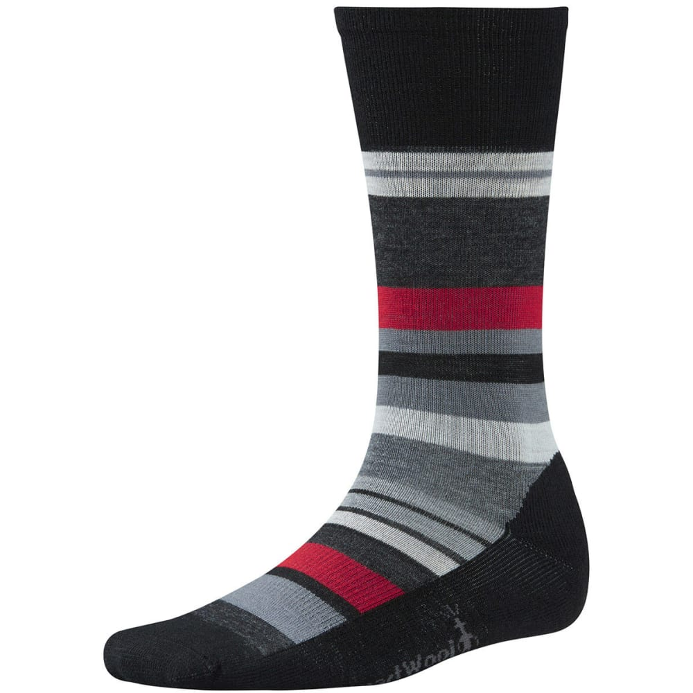 SMARTWOOL Men's Saturnsphere Socks - BLACK/WHITE 960