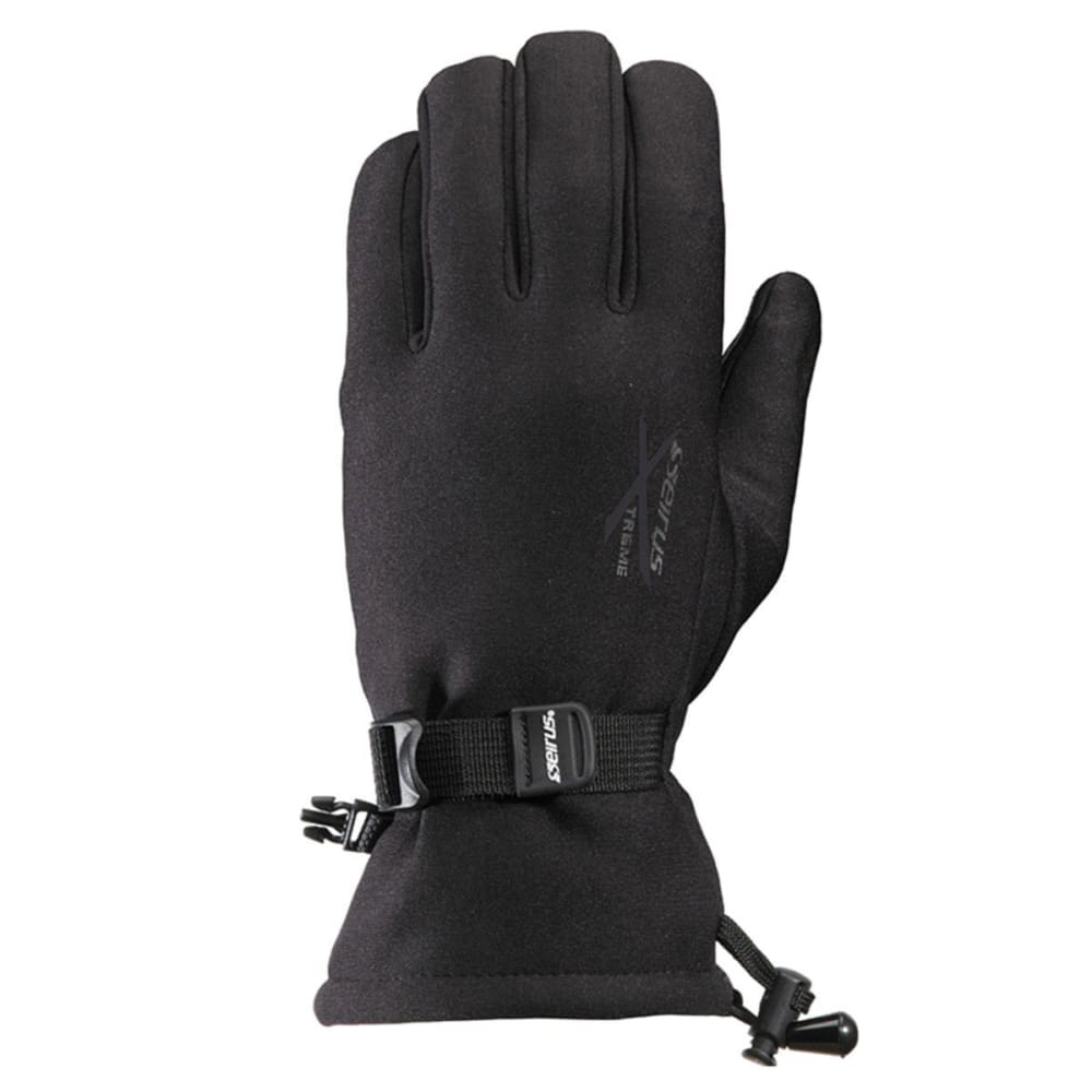 SEIRUS Men's Xtreme All Weather Waterproof Gauntlet Gloves - BLACK