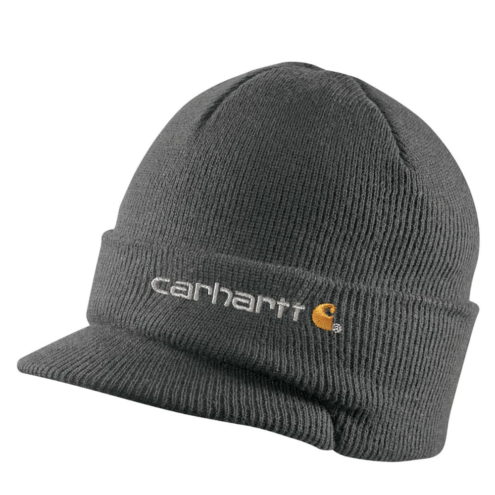 CARHARTT Men's Knit Hat With Visor - COAL