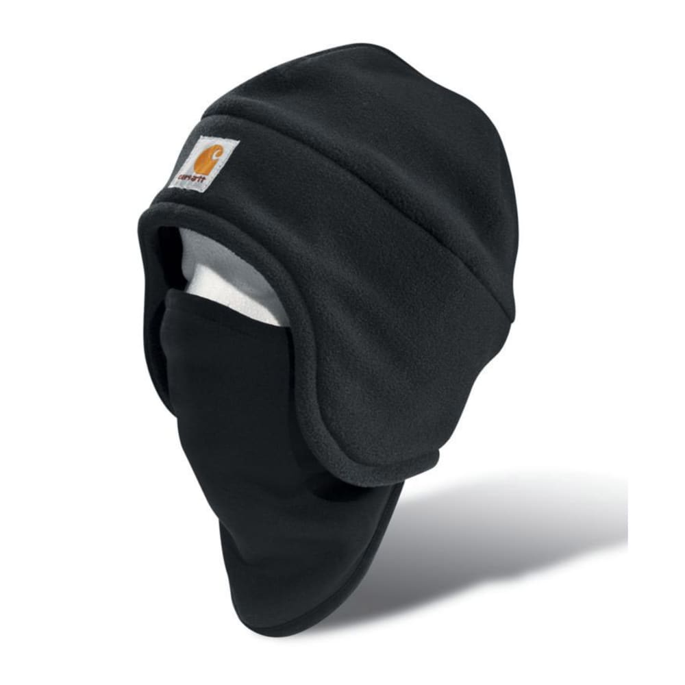 CARHARTT Men's 2-in-1 Fleece Hat and Face Mask - BLACK