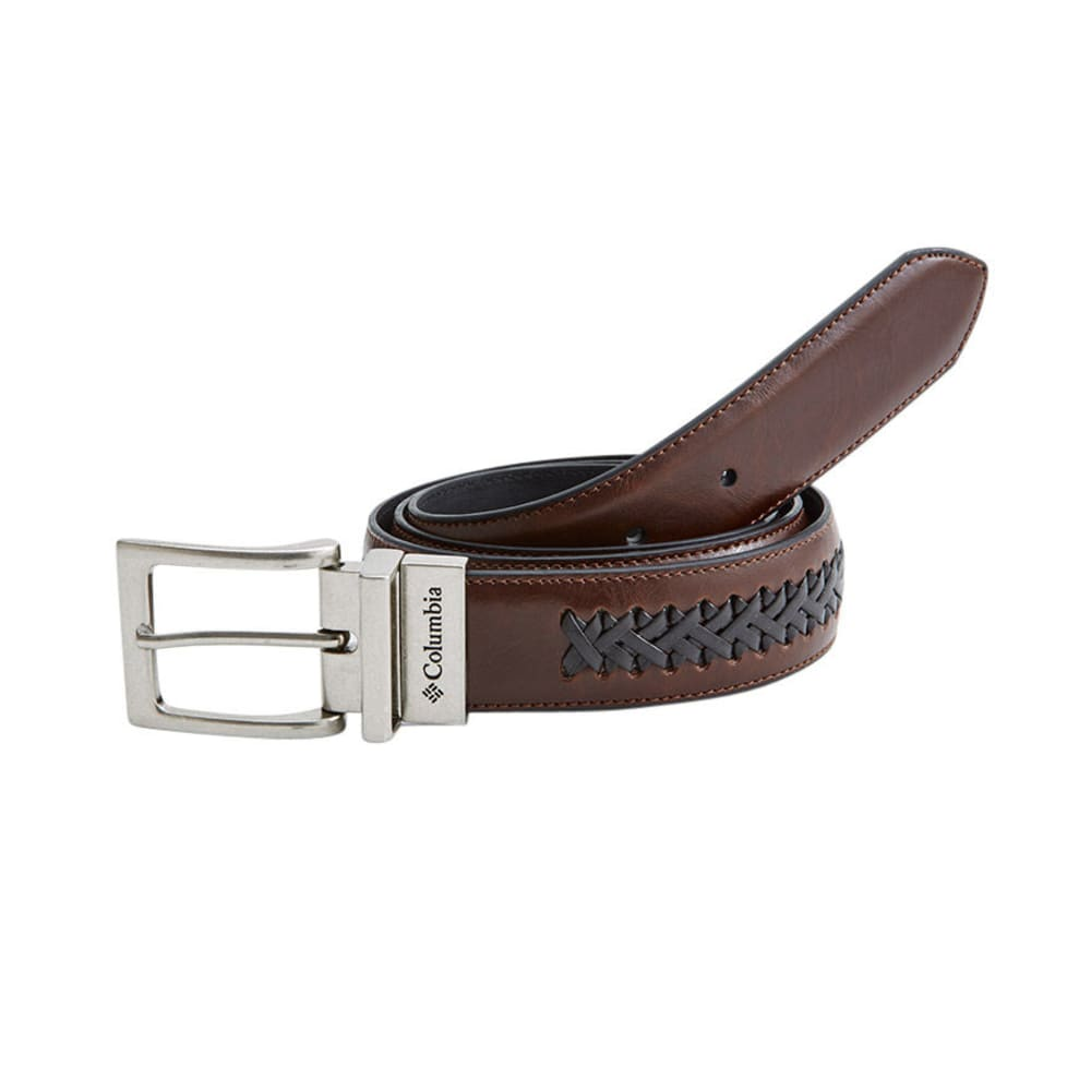COLUMBIA Men's Center Braid Reversible Belt - BROWN/BLACK