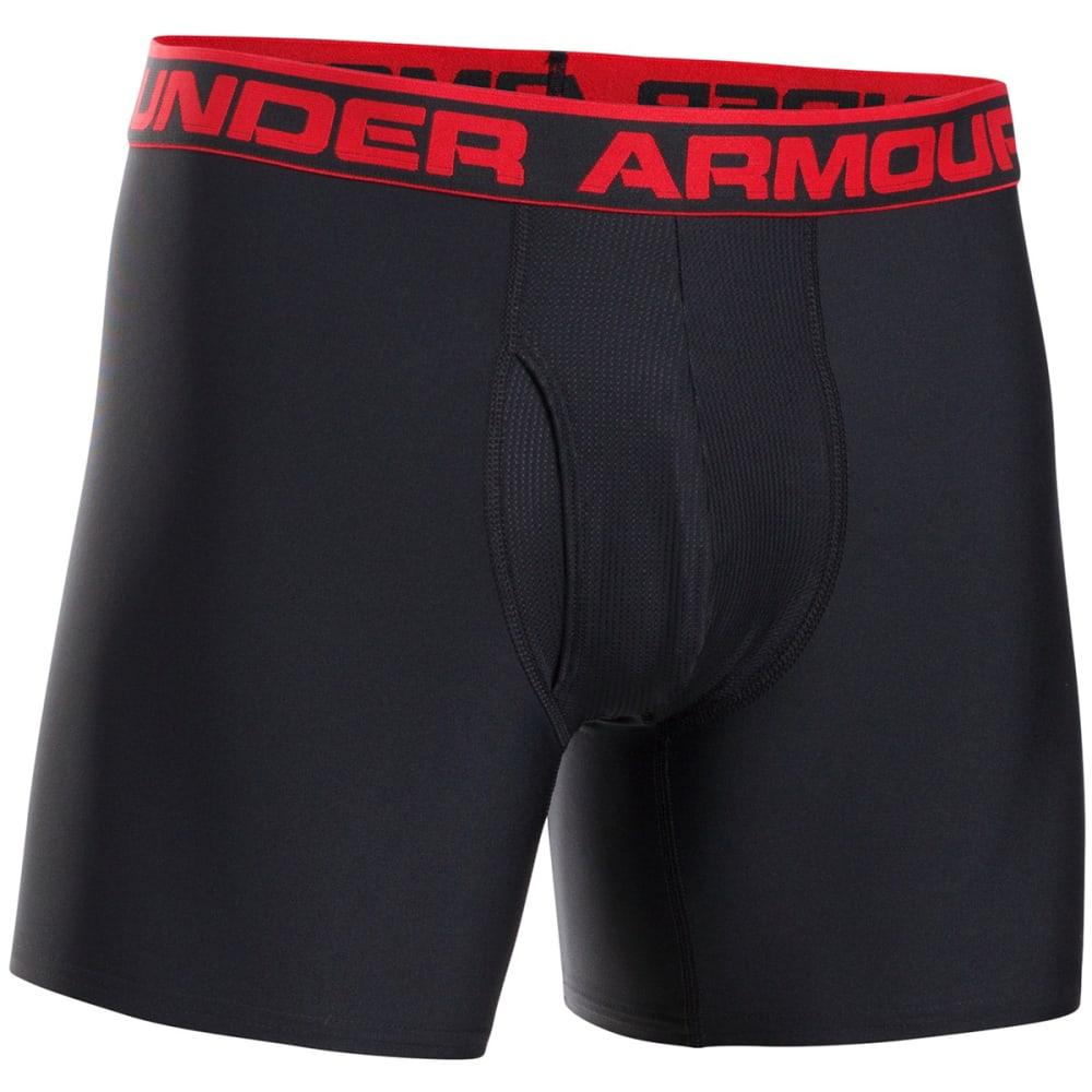 UNDER ARMOUR Men's Original Boxerjocks Boxer Briefs - BLACK/RED