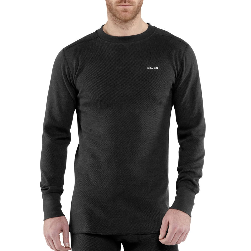 CARHARTT Men's Base Force Super-Cold Weather Crewneck Baselayer Top - BLACK 001