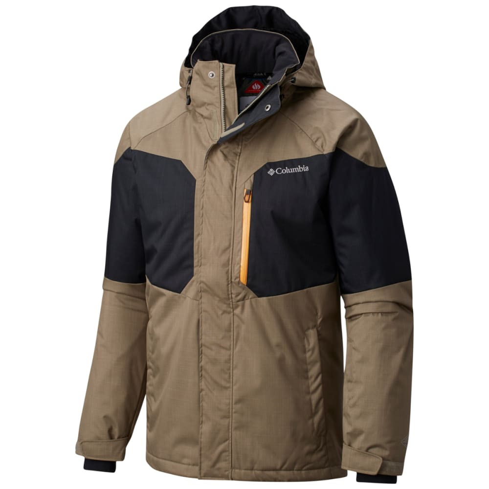 COLUMBIA Men's Alpine Action Jacket - 365-SAGE/BLACK/SOLAR