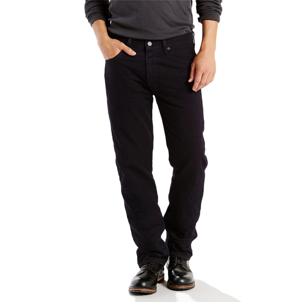 LEVI'S Men's 501 Original Fit Jeans - BLACKLIST 2442