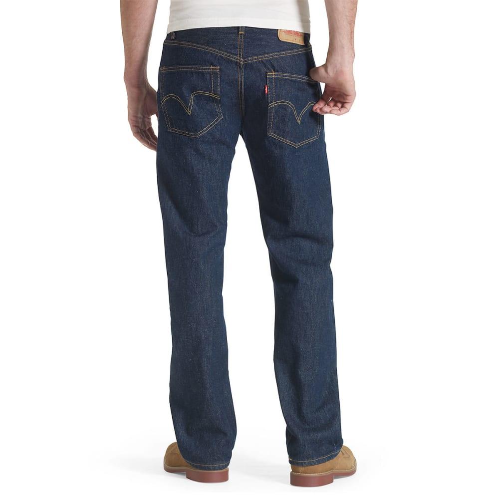 LEVI'S Men's 501 Original Fit Jeans - RINSE 0115