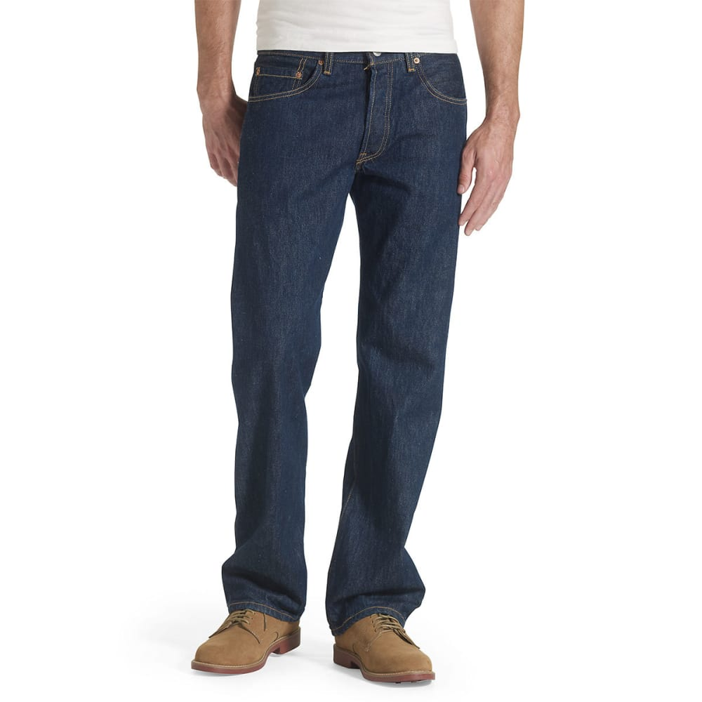 LEVI'S Men's 501 Original Fit Jeans - RINSE 0115