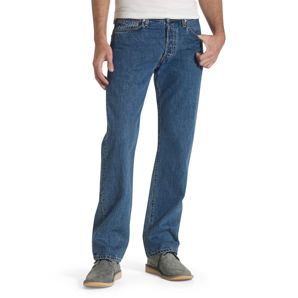 LEVI'S Men's 501 Original Fit Jeans - DK STONEWASH 0194