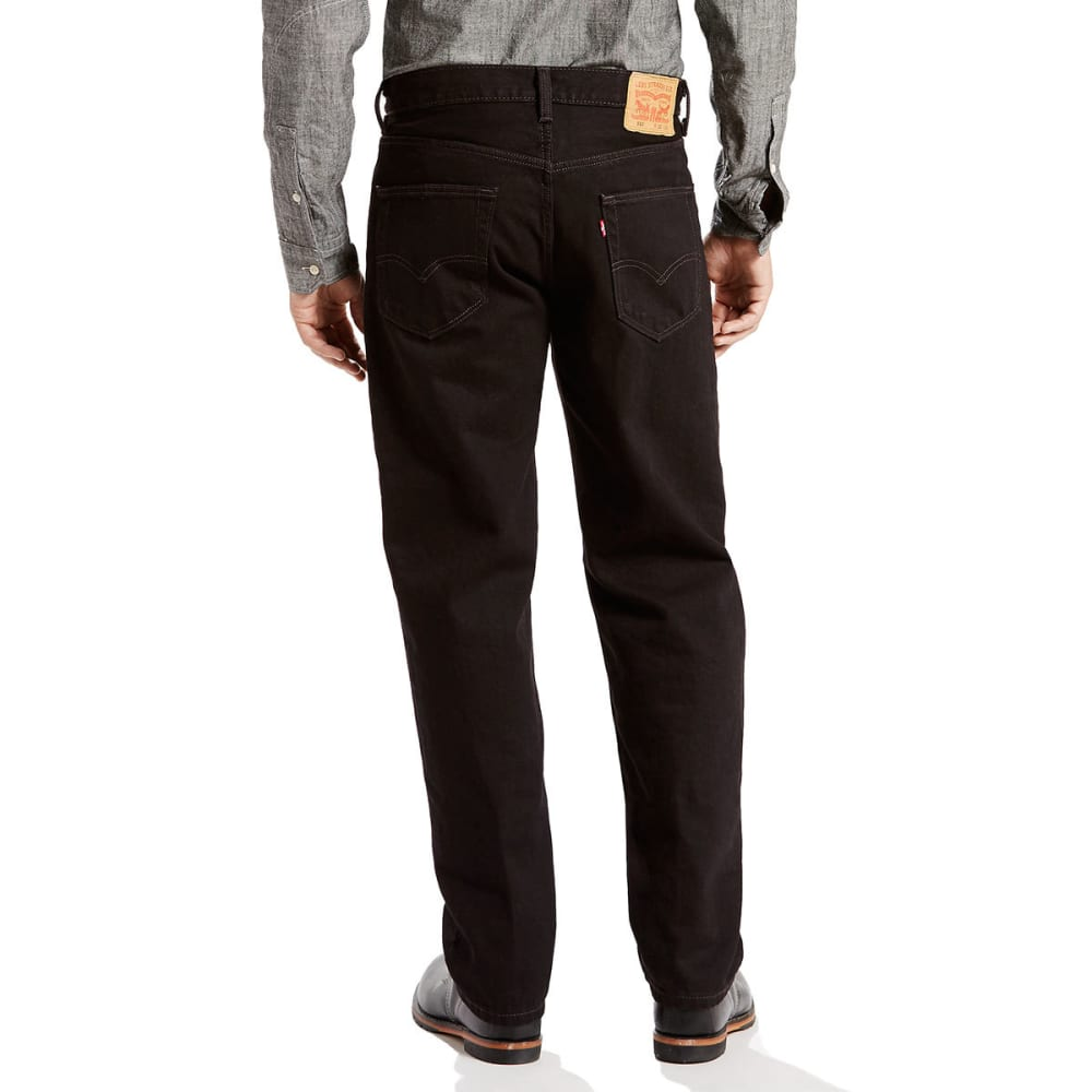 LEVI'S Men's 550 Relaxed Fit Jeans - BLACK 0260