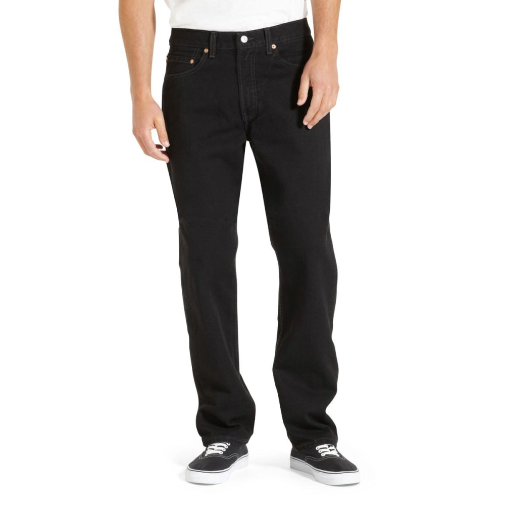 LEVI'S Men's 505 Regular Fit Jeans - BLACK 0260