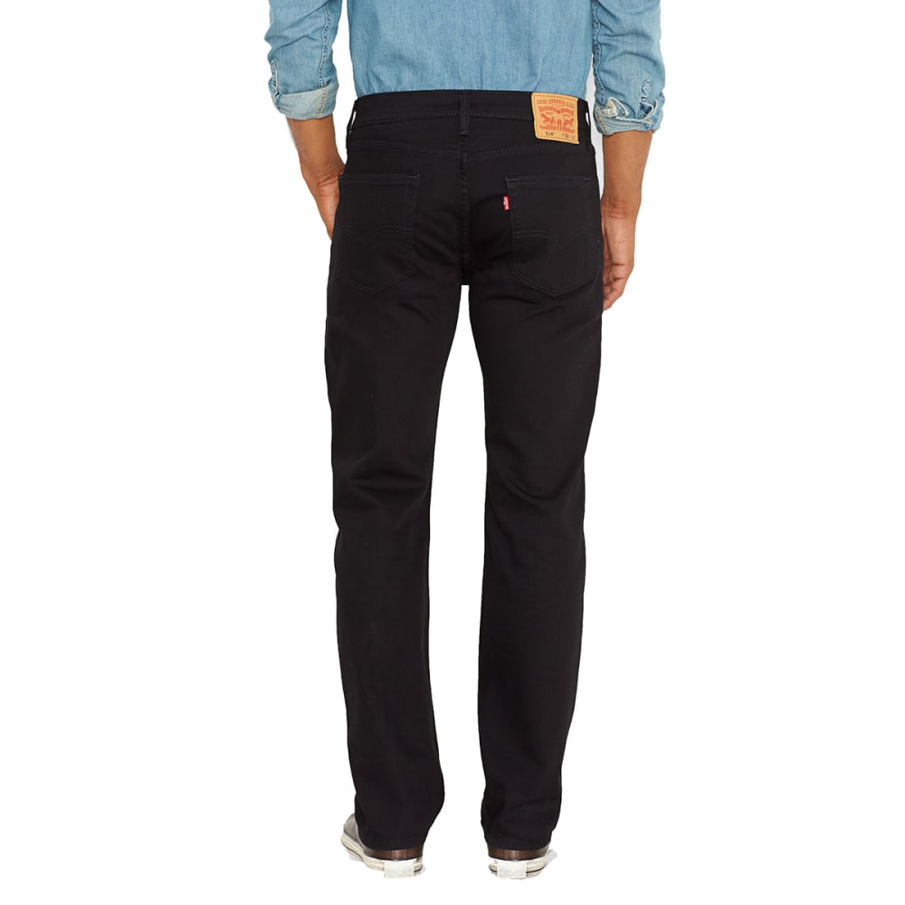 LEVI'S Men's 514 Straight Jeans - BLK/NATIVE 0211-0730