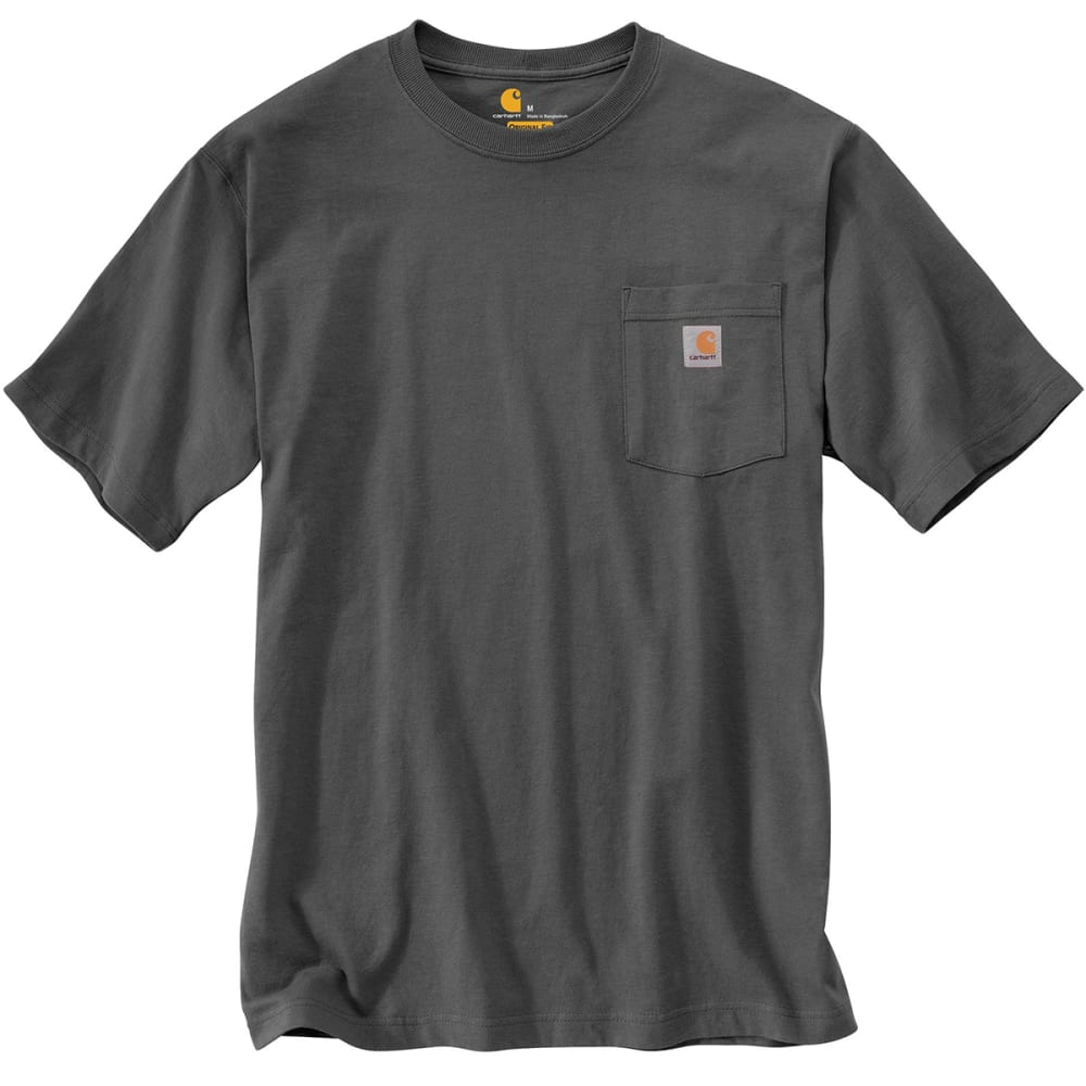 CARHARTT Men's Workwear Pocket Shirt, S/S - CHARCOAL CHR