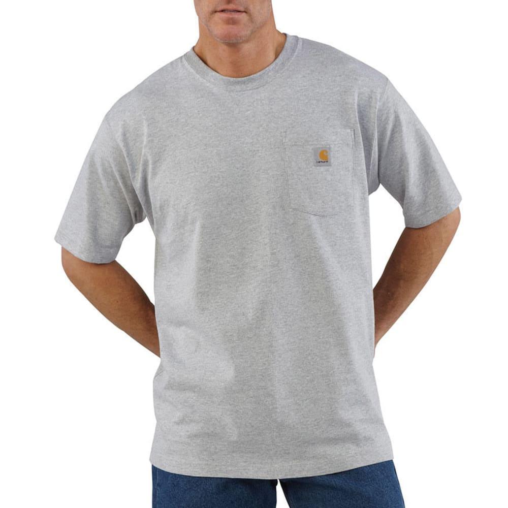 CARHARTT Men's Workwear Pocket Shirt, S/S - HEATHER GREY