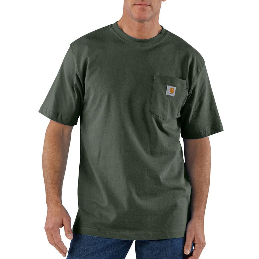 CARHARTT Men's Workwear Pocket Shirt, S/S - OLIVE