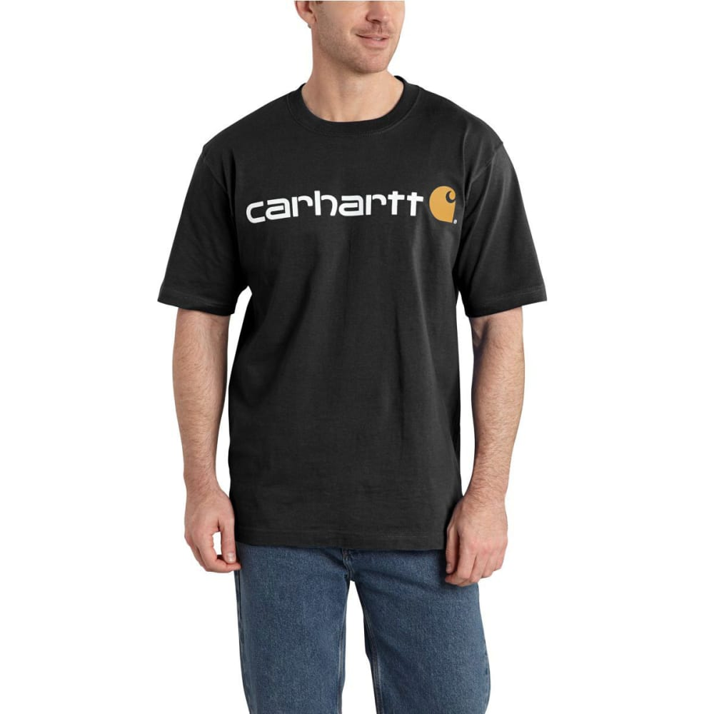 CARHARTT Men's Logo T-Shirt - BLACK