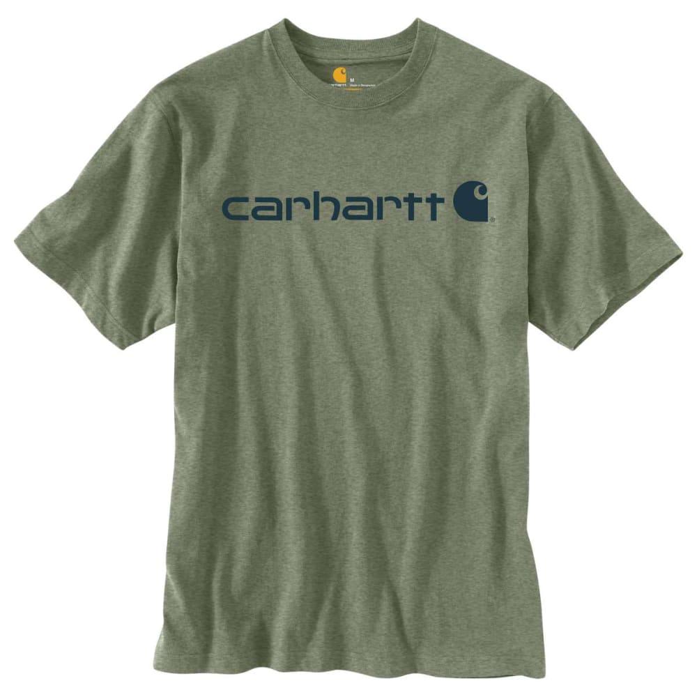 CARHARTT Men's Short Sleeve Logo Tee - O GRN HTHR 371
