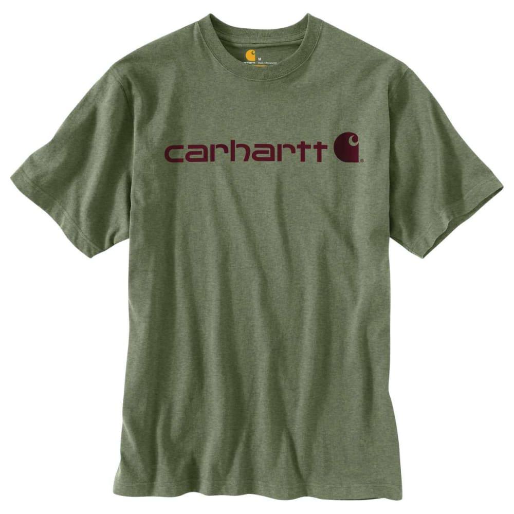 CARHARTT Men's Short Sleeve Logo Tee - OLIVINE HTHR G01