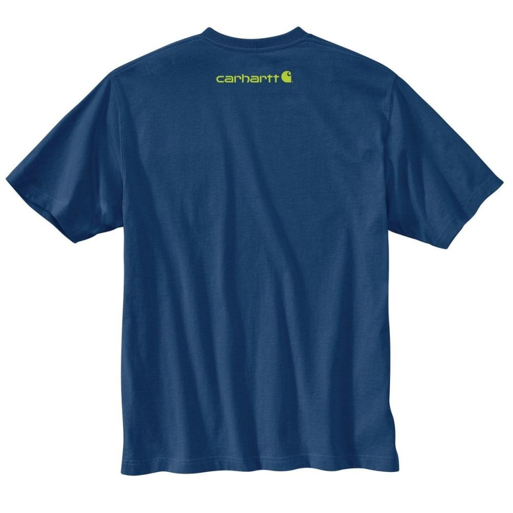 CARHARTT Men's Short Sleeve Logo Tee - 413 DK COBALT HRTH