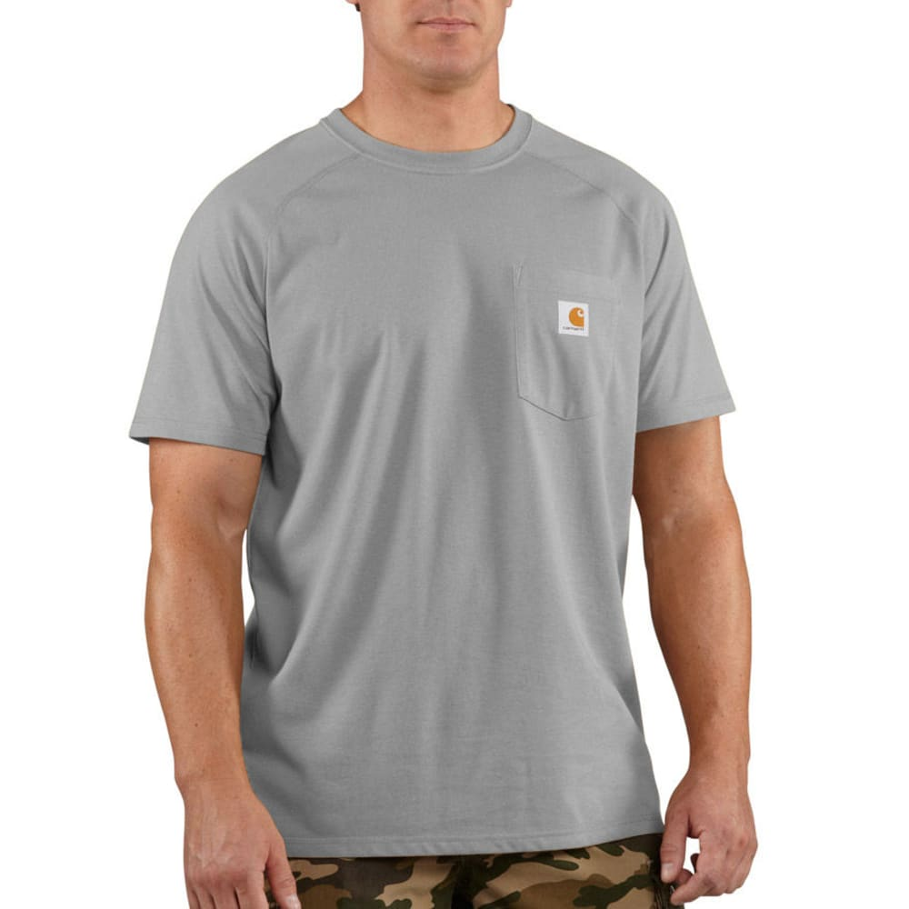 CARHARTT Men's Force Delmont Short-Sleeve Tee - 034-HEATHER GREY