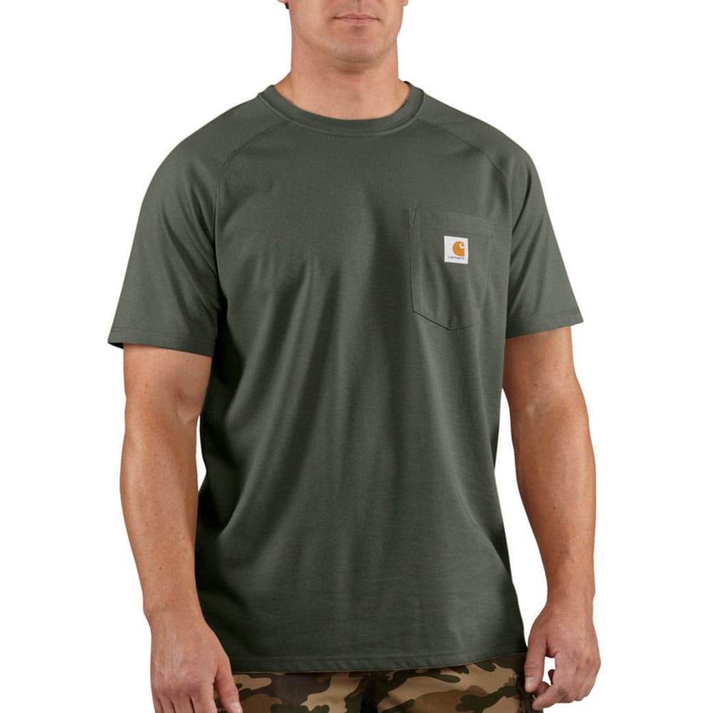 CARHARTT Men's Force Delmont Short-Sleeve Tee - MOSS 316