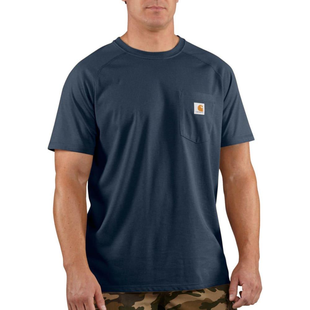 CARHARTT Men's Force Delmont Short-Sleeve Tee - NAVY 412