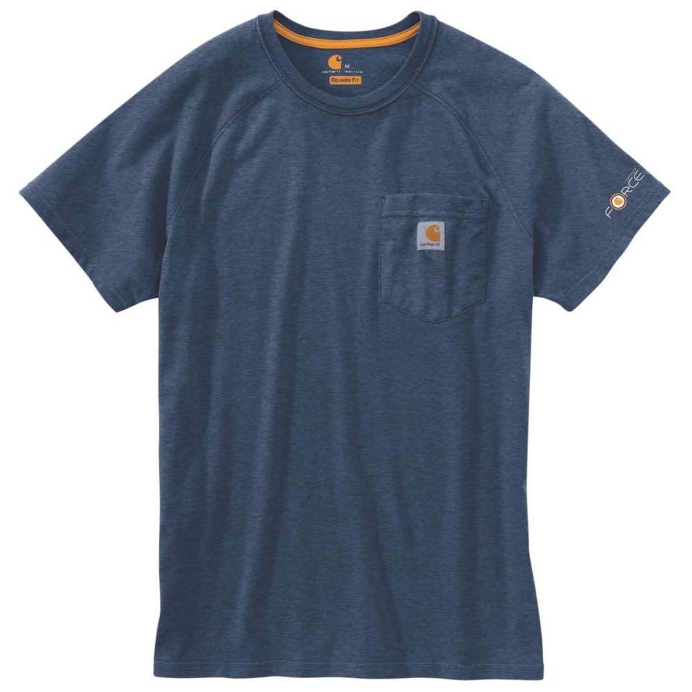 CARHARTT Men's Force Delmont Short-Sleeve Tee - LIGHT HURON HEAT 446