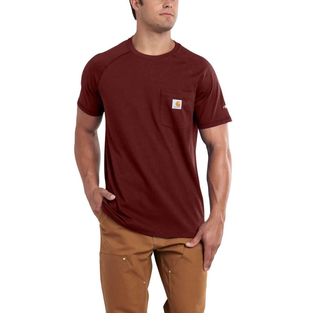 CARHARTT Men's Force Delmont Short-Sleeve Tee - 603 RED BRN HTHR