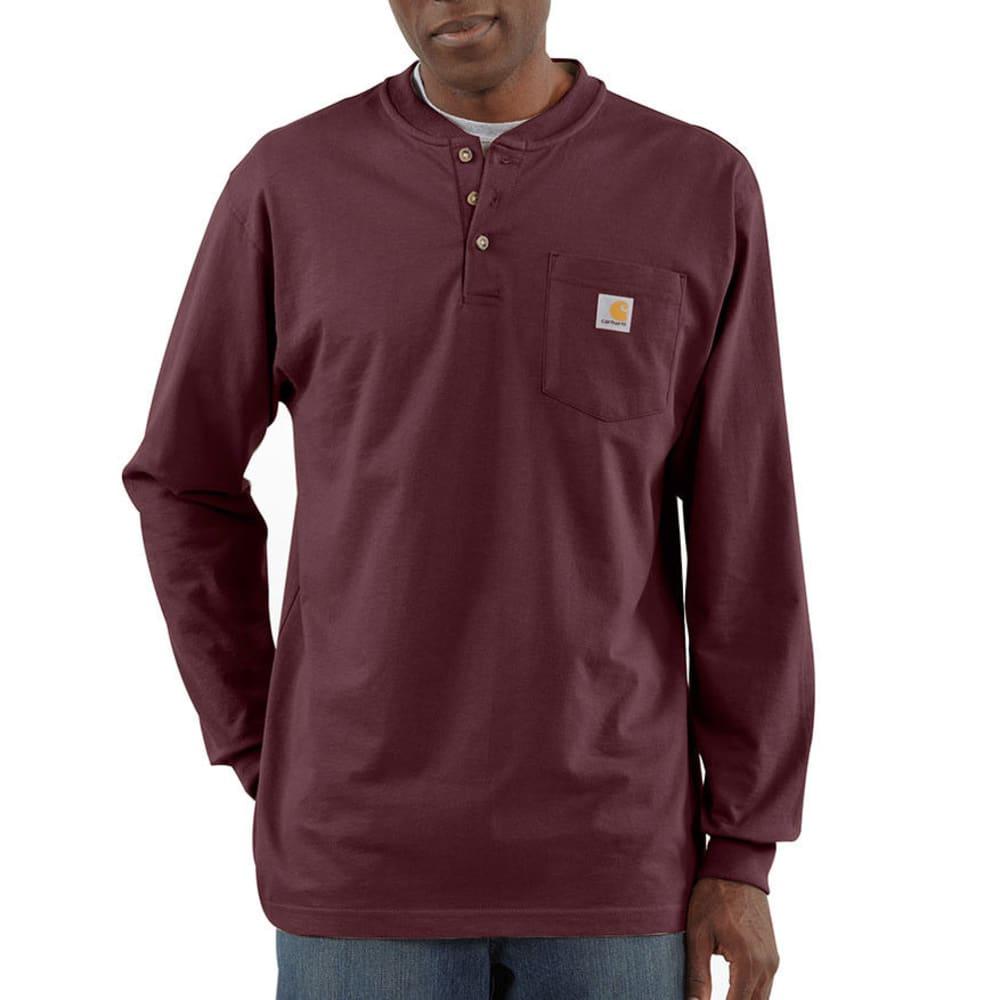 CARHARTT Men's Workwear Pocket Henley, L/S - PRT PORT