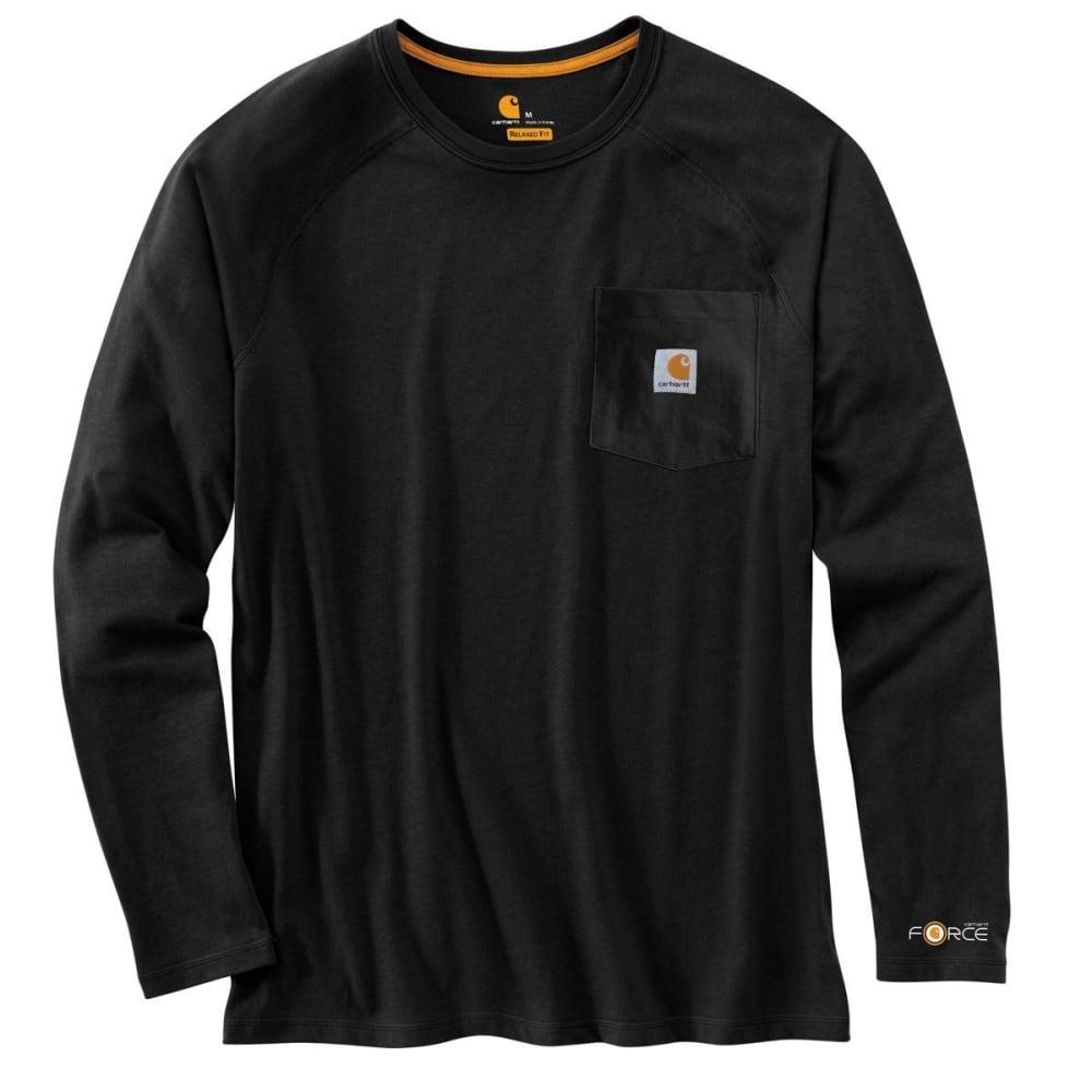 CARHARTT Men's Force Cotton Long-Sleeve Tee - BLACK 001