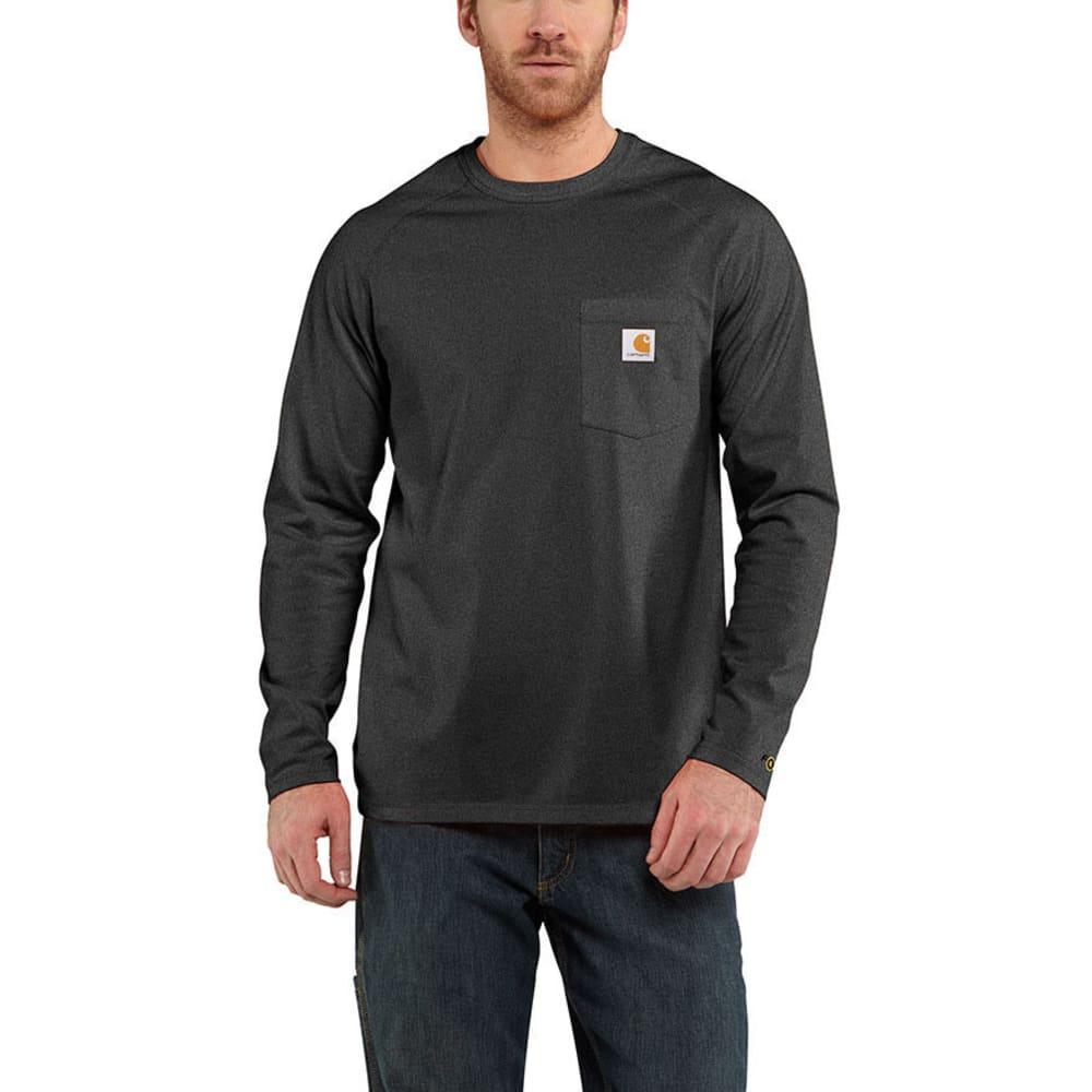 CARHARTT Men's Force Cotton Long-Sleeve Tee - CARBON HEATHER 026