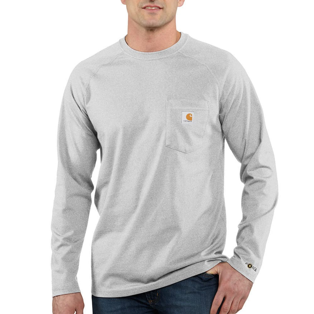 CARHARTT Men's Force Cotton T-Shirt - HEATHER GREY