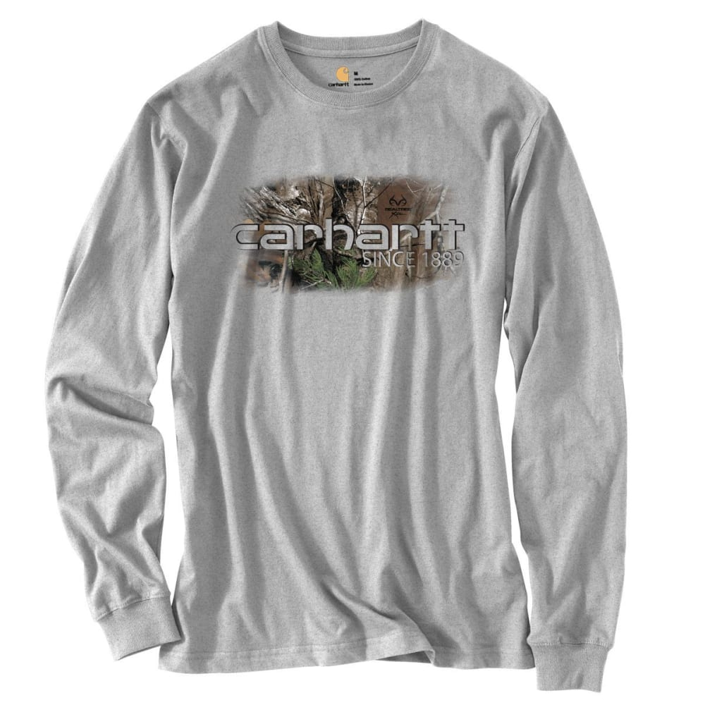 CARHARTT Men's Workwear Graphic Camo 1889 Long-Sleeve T-Shirt - HEATHER GREY