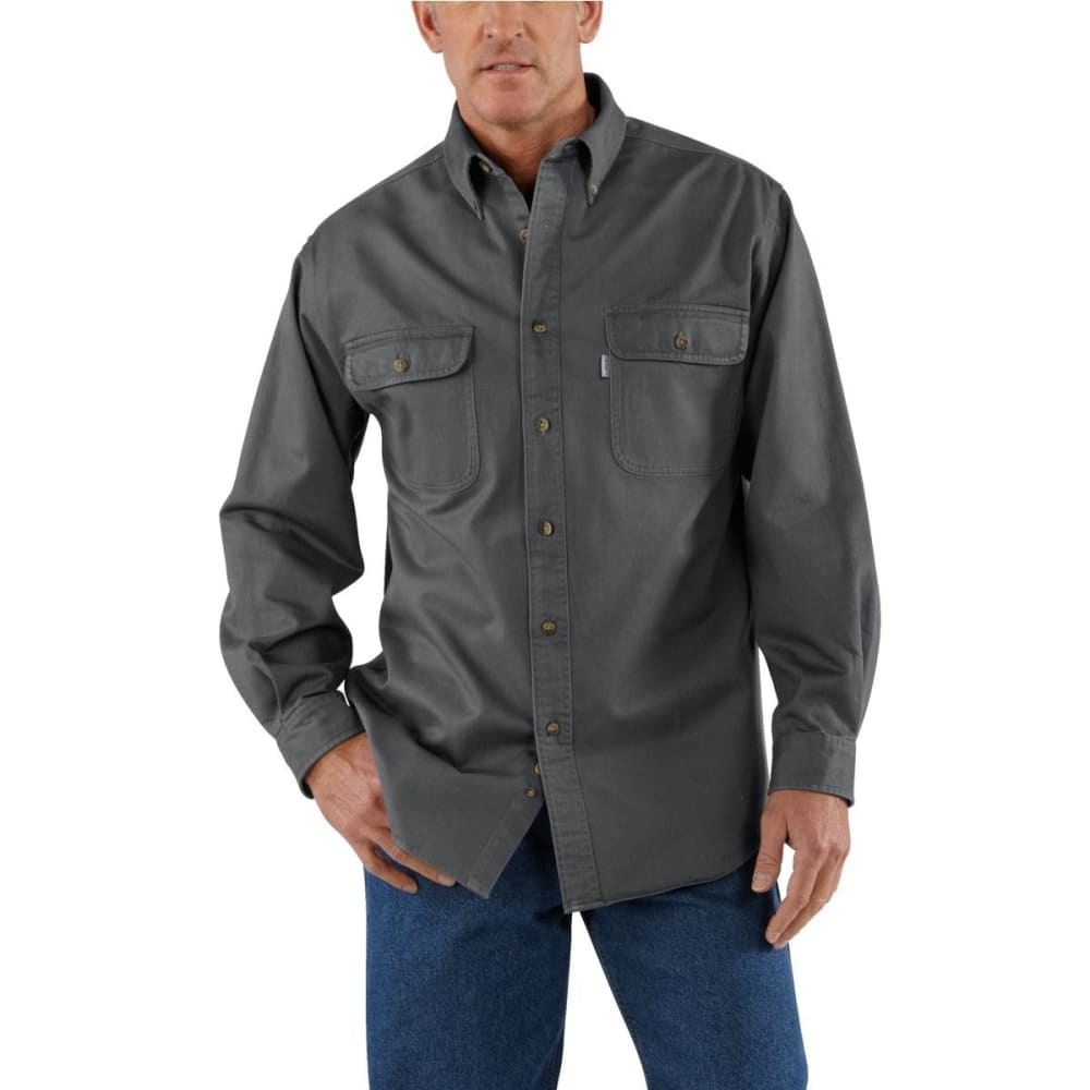 CARHARTT Men's Sandstone Twill Shirt - GVL GRAVEL