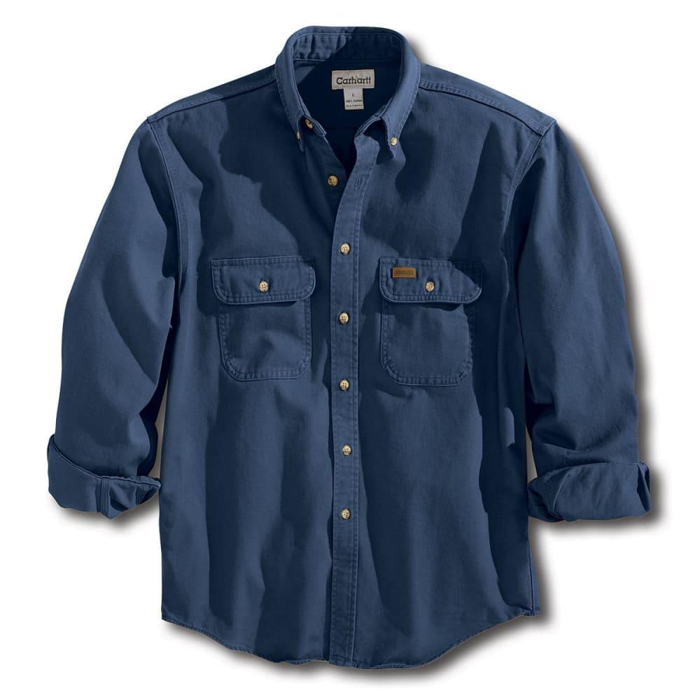 CARHARTT Men's Sandstone Twill Shirt - MDT MIDNIGHT