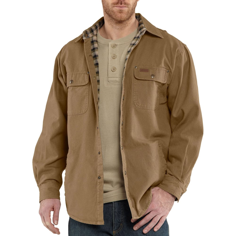 CARHARTT Men's Weathered Canvas Shirt Jac - 903 FRONTIER BROWN