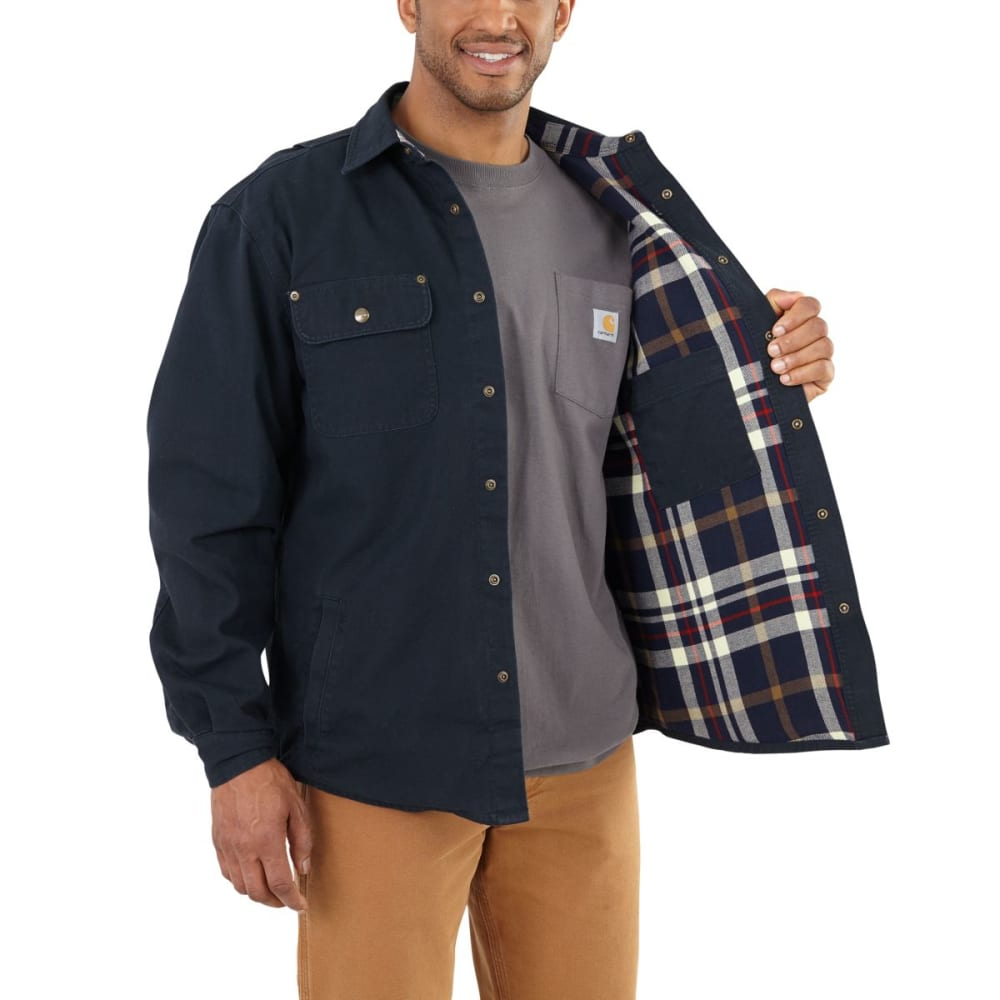 CARHARTT Men's Weathered Canvas Shirt Jac - 412 NAVY