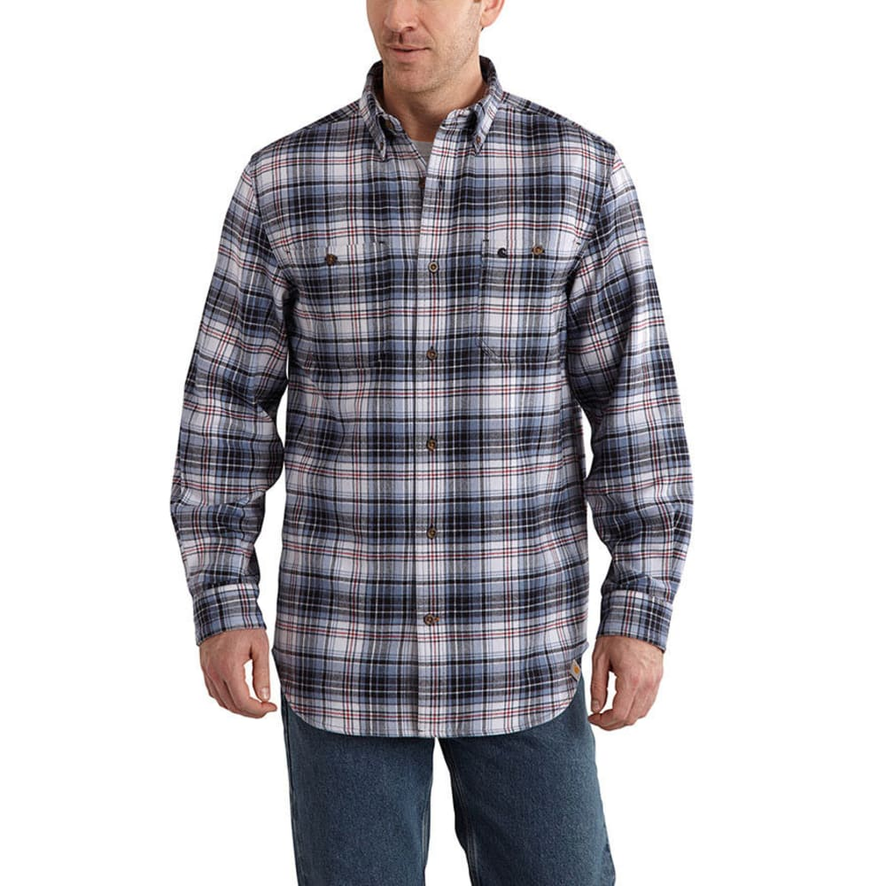 CARHARTT Men's Trumbull Plaid Shirt - FLINT STONE