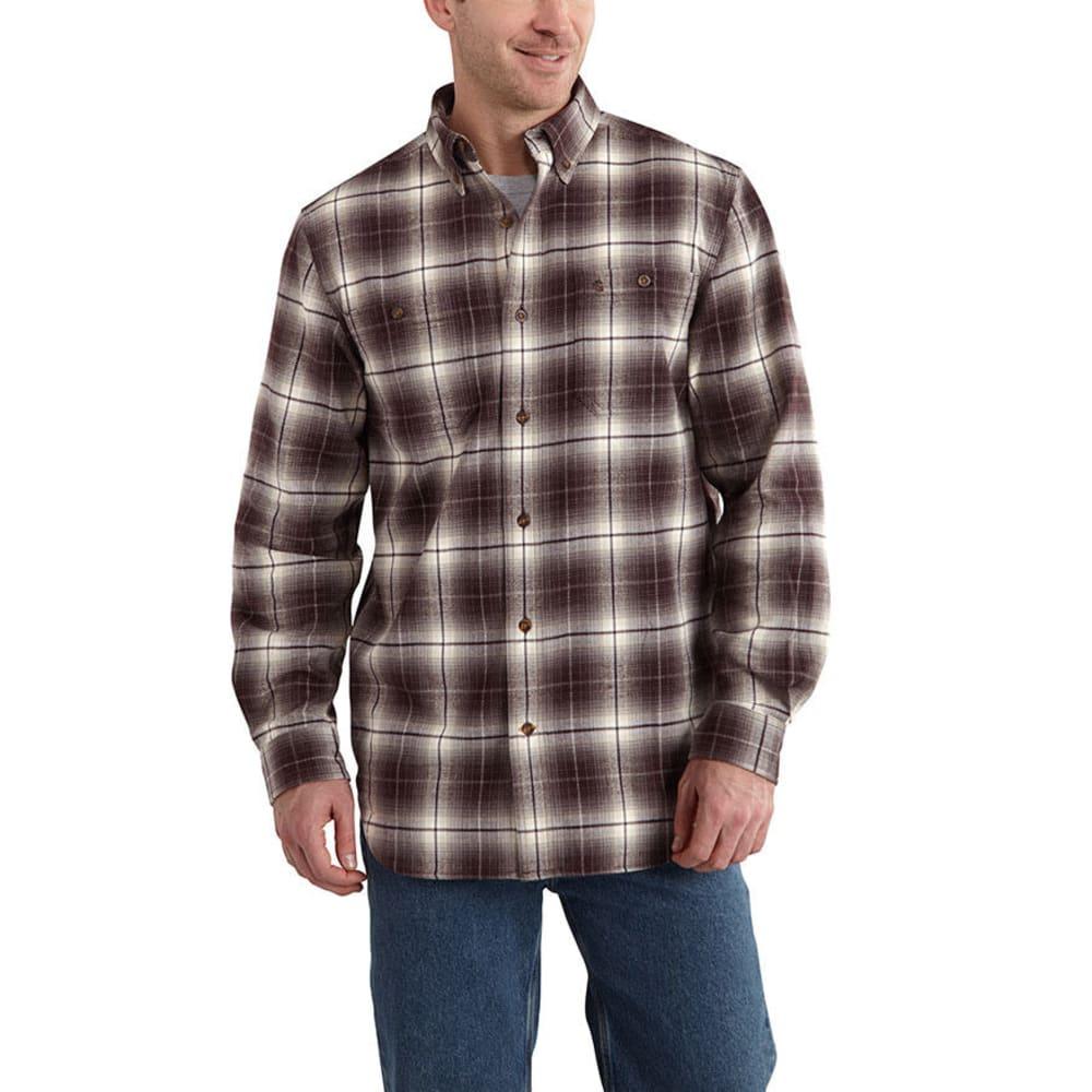 CARHARTT Men's Trumbull Plaid Shirt - DARK BROWN