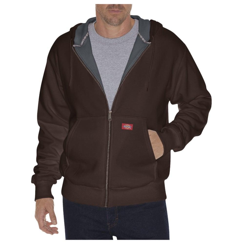 DICKIES Men's Thermal Lined Fleece Hoodie - DARK BROWN