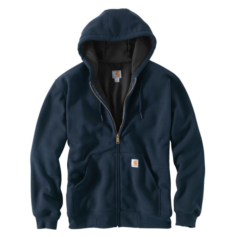 CARHARTT Men's Rain Defender Rutland Hooded Zip-Front Sweatshirt - NEW NAVY 472