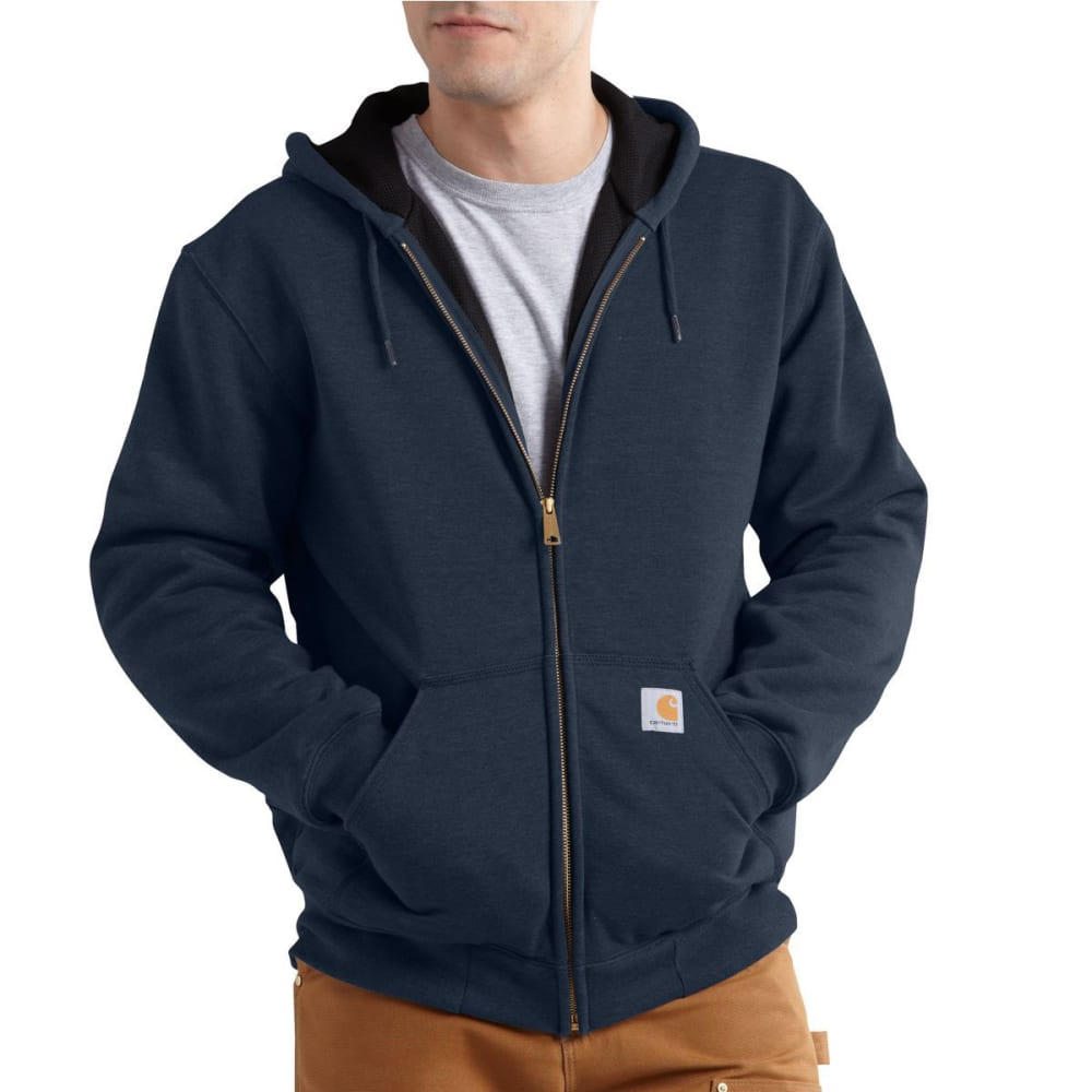 CARHARTT Men's Rain Defender Rutland Hooded Zip-Front Sweatshirt - NEW NAVY 472