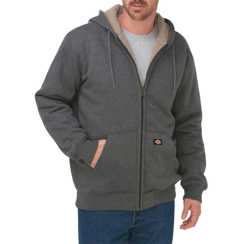 DICKIES Men's Sherpa Lined Fleece Hoodie - DH HEATHER GREY
