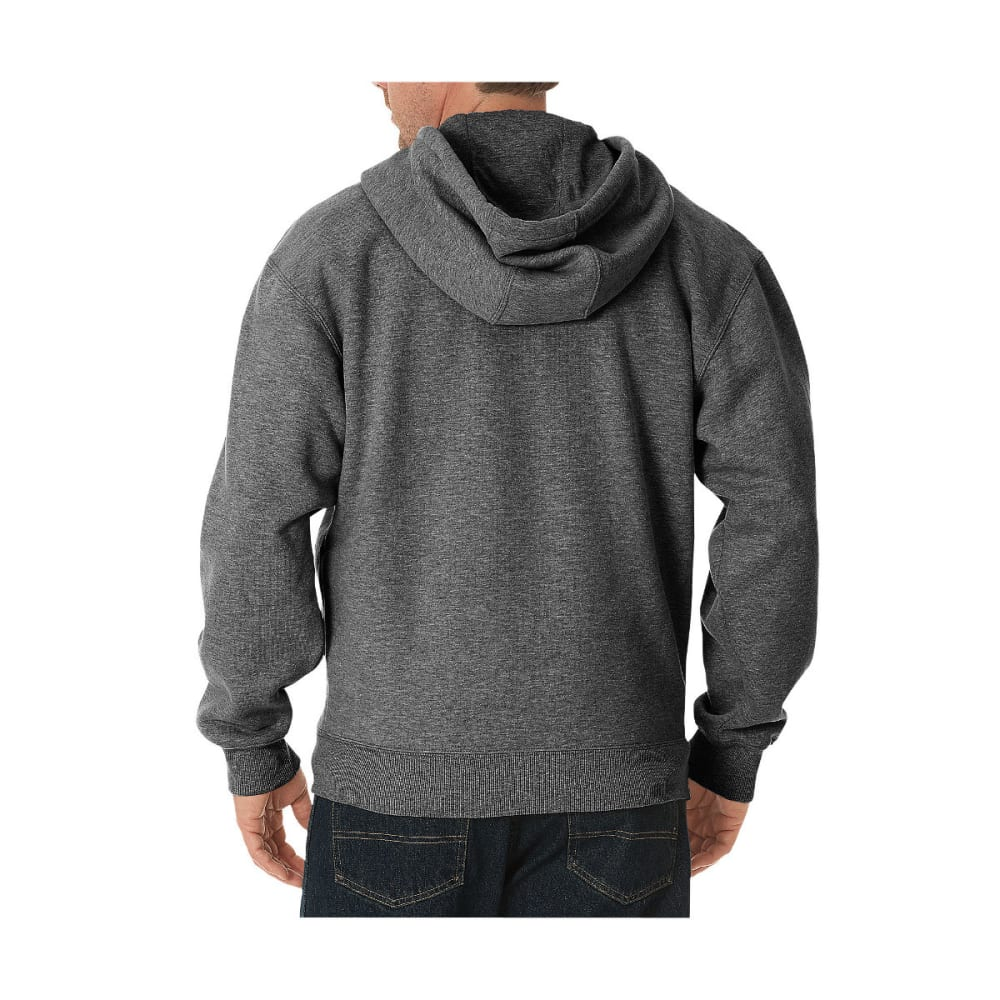 DICKIES Men's Midweight Fleece Full Zip Hoodie - DK HEATHER GREY-DH