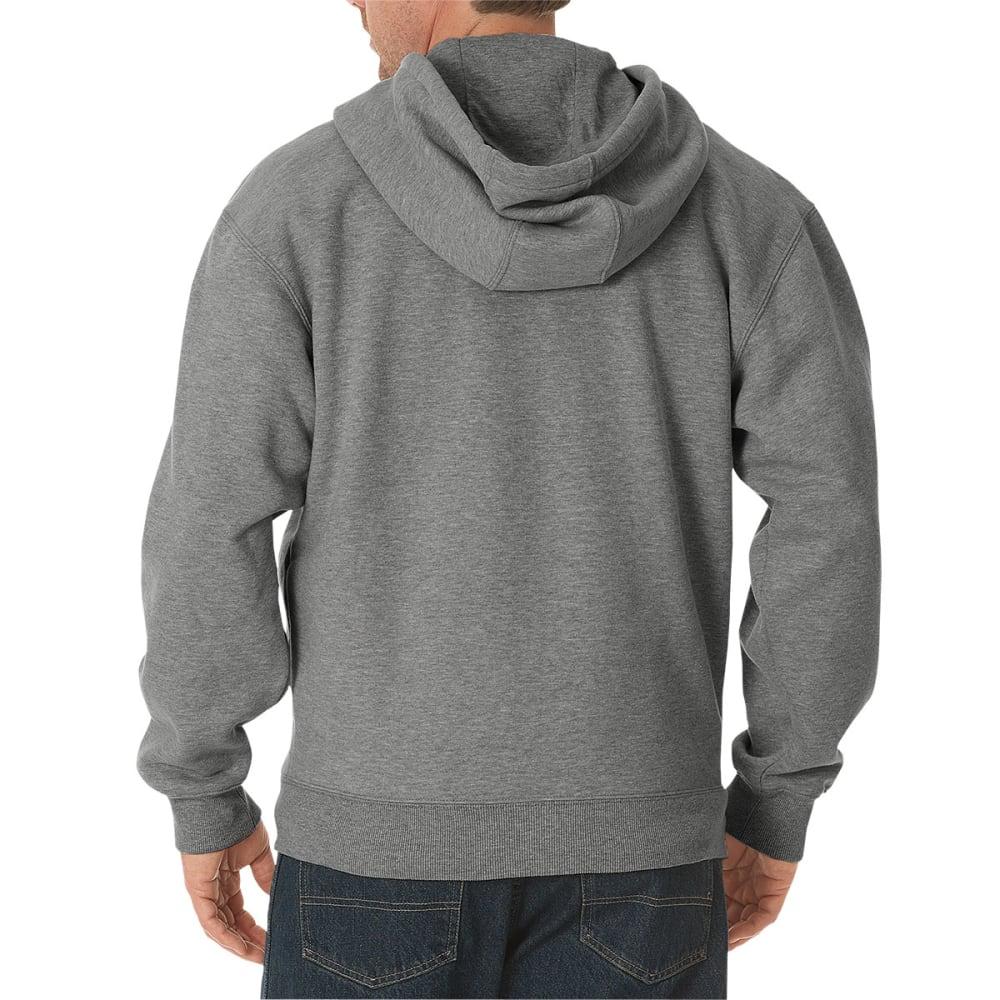 DICKIES Men's Midweight Fleece Full Zip Hoodie - HEATHER GREY-HG