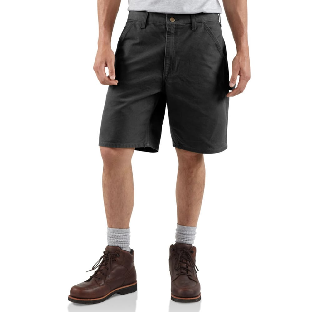 CARHARTT Men's B25 Washed Duck Work Shorts, 8 1/2 in. - BLACK