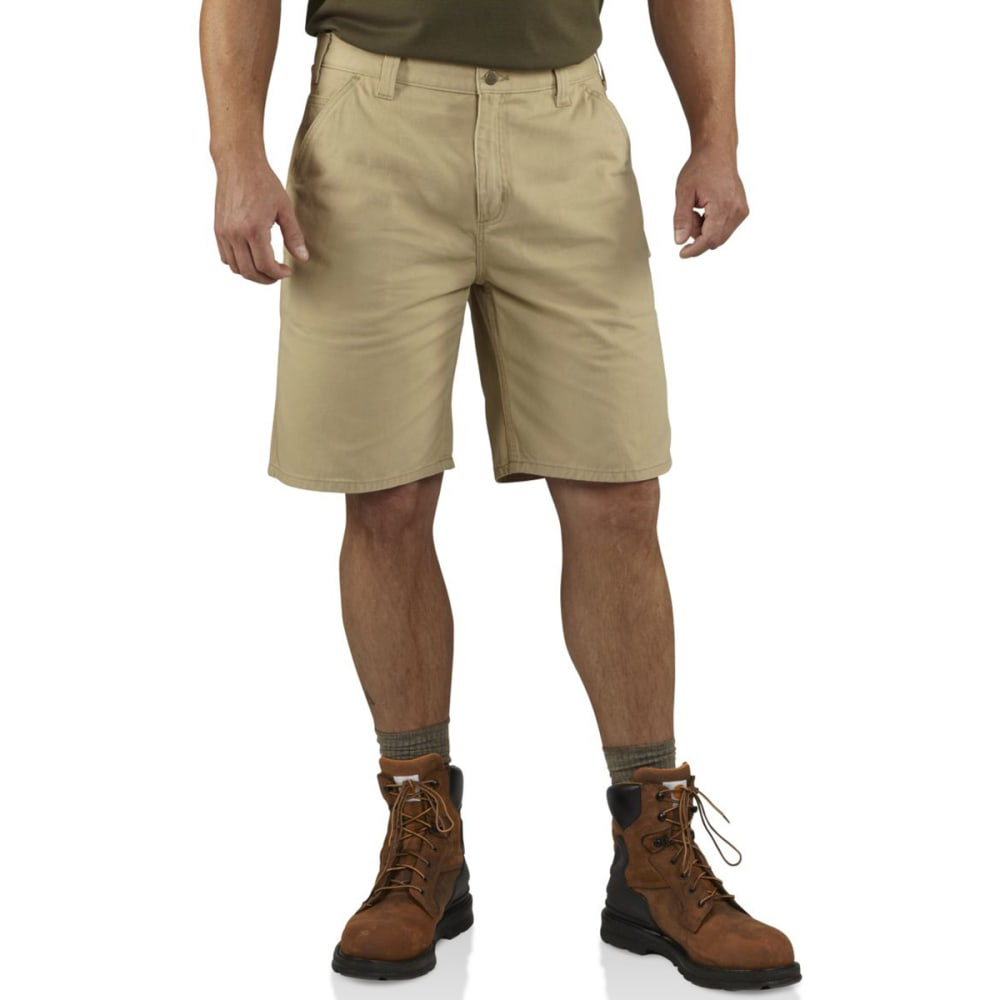 CARHARTT Men's Washed Twill Dungaree Shorts - 285 FIELD KHAKI