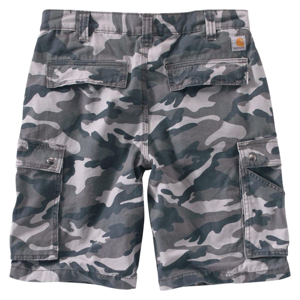 CARHARTT Men's Rugged Cargo Camo Shorts - GRAY CAMO